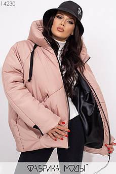 Зимняя куртка Oversize, бежевый