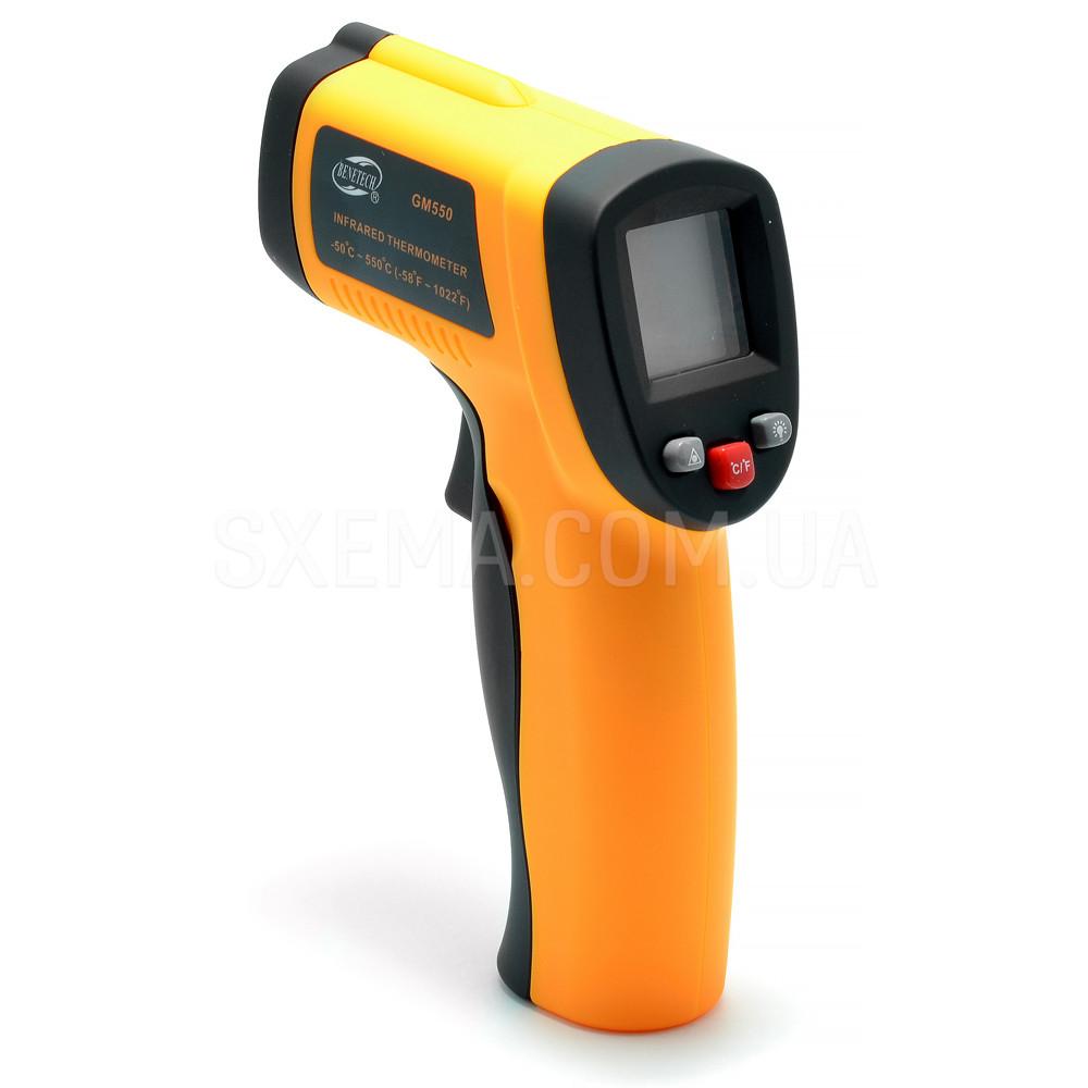 Пирометр инфракрасный Benetech GM550 бесконтактный термометр, от-50 до +550c