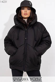 Зимняя куртка Oversize, черный