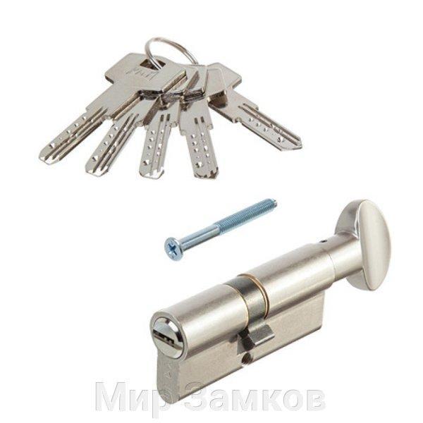 Цилиндровый механизм секретности KALE 164 BM 68 (26+10+32)поворотник с меньшей стороны,цвет никель