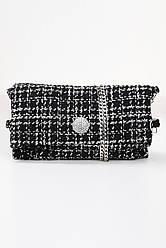 Женская сумка, твид чёрный