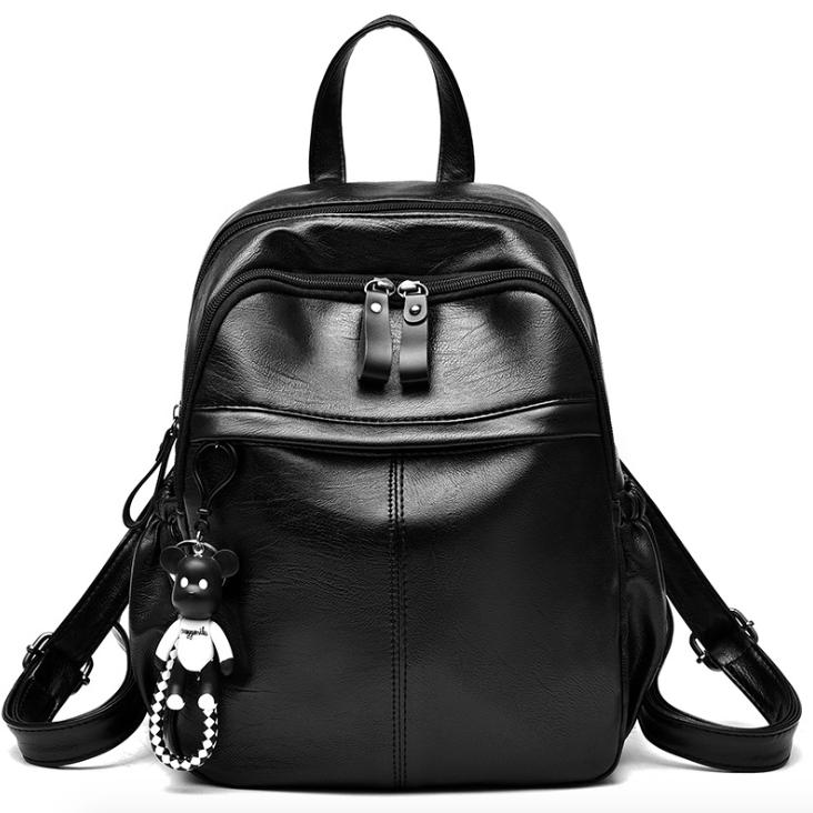 Рюкзак женский кожзам Backpack Черный
