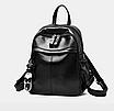 Рюкзак женский кожзам Backpack Черный, фото 2