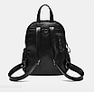 Рюкзак женский кожзам Backpack Черный, фото 4