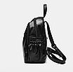 Рюкзак женский кожзам Backpack Черный, фото 3