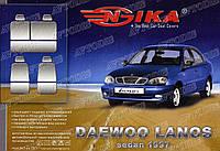 Чехол на сидения Daewoo Lanos 1997- (красный) Nika