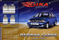 Чехол на сидения Daewoo Lanos 1997- (синий) Nika