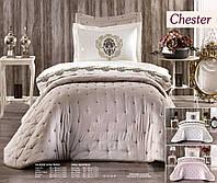 Покрывало на кровать с наволочками Chester Бежевое