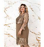 Платье женское без застёжек батал цвет-бронзовый, фото 2