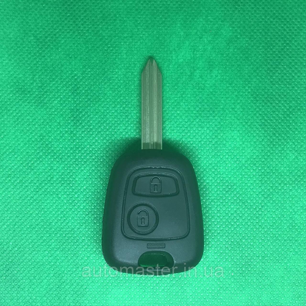 Ключ  Ситроен  Citroen   2 кнопки, с чипом ID46 433 Mhz, лезвие SX9