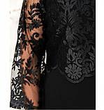Платье женское без застёжек батал цвет-черный, фото 4