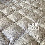 Одеяло на холлофайбере ОДА 200х220 см | Тепла ковдра, наповнювач холлофайбер. Стеганое одеяло ОДА, фото 3