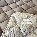 Одеяло на холлофайбере ОДА 200х220 см | Тепла ковдра, наповнювач холлофайбер. Стеганое одеяло ОДА, фото 4