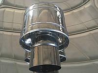 Дефлектор на дымоход из нержавеющей стали, диаметр 200 мм.