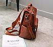 Рюкзак жіночий шкіряний трансформер Practical, фото 6