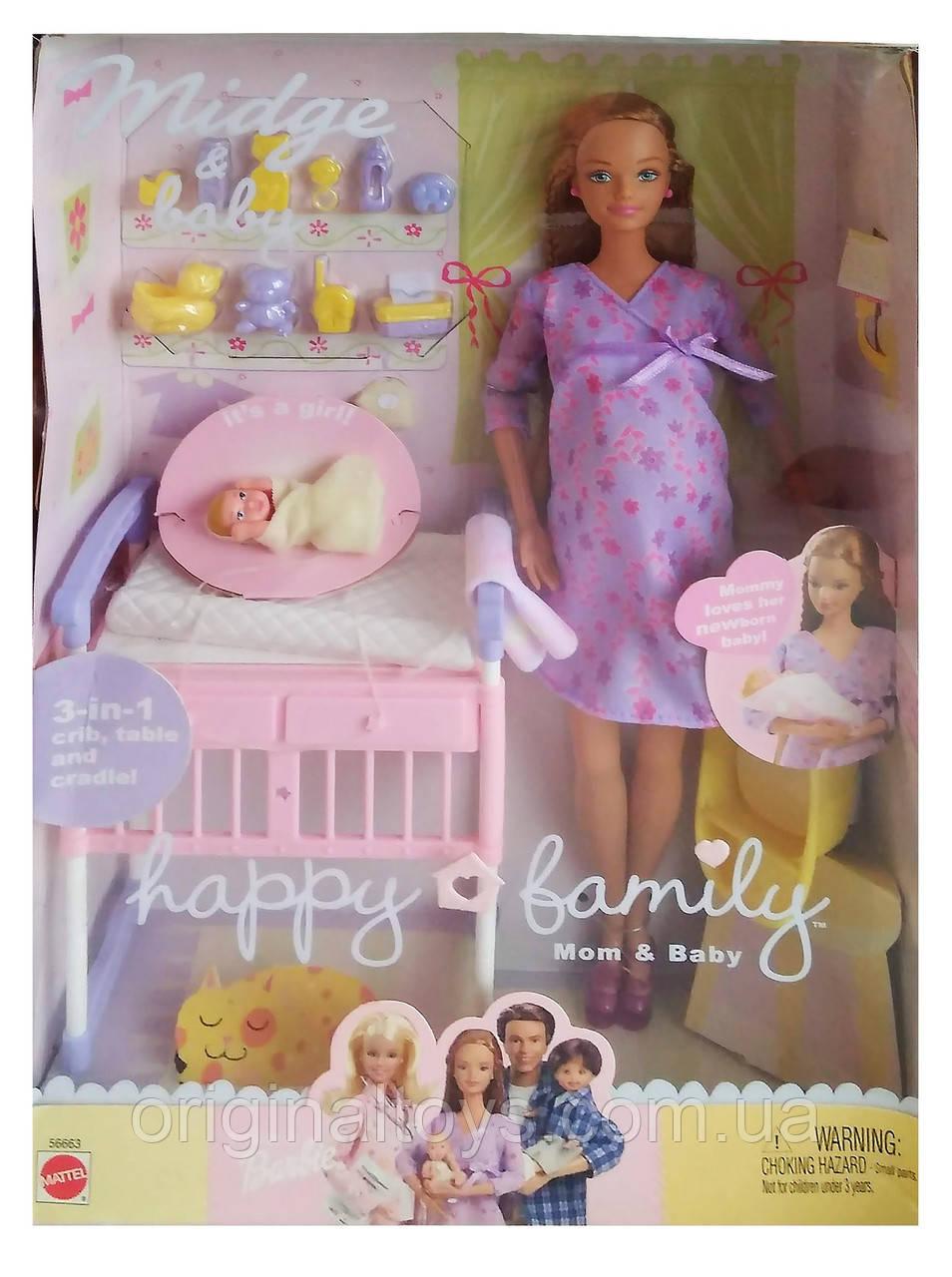 Колекційна лялька вагітна Мідж і малюк Happy Family Midge & Baby 2002 Mattel 56663
