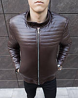 Куртка мужская кожаная весенняя до 0* Birmingham X Brown / осенняя ЛЮКС качество, фото 1