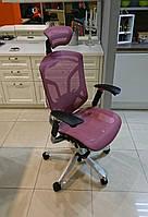 Dvary DV-10E особенное кресло в сером пластике и рамой спинки в форме изящной бабочки, GT-22 розовый