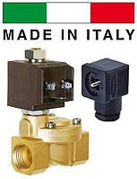 """Электромагнитный клапан CEME (Италия) 8715, НО, 3/4"""", 90 C, 220В нормально открытый для воды, воздух"""
