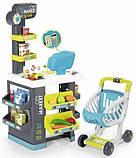 Супермаркет с электронной кассой и тележкой Smoby Market (34 ед.) Франция (350212), фото 2