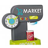 Супермаркет с электронной кассой и тележкой Smoby Market (34 ед.) Франция (350212), фото 7