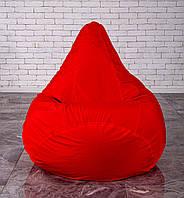 Красное Бескаркасное Кресло мешок груша пуфик  XL (120х75)