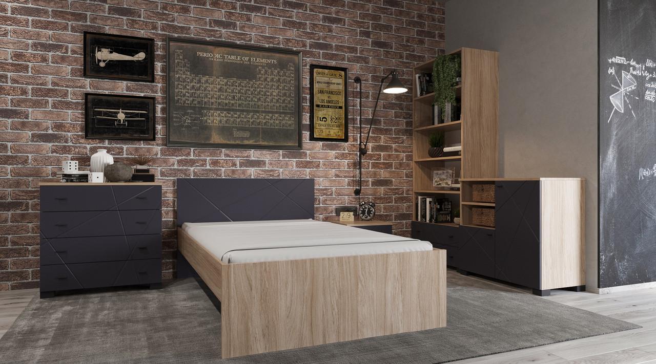 Комплект подростковой мебели Х-Скаут-2 графит мат