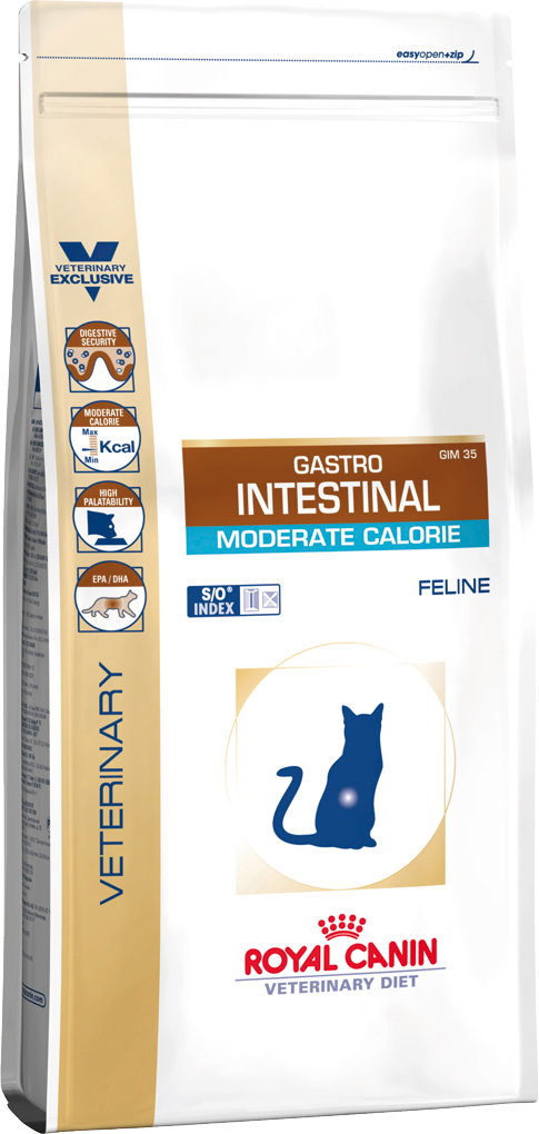 Сухой корм для котов Royal Canin GASTRO INTESTINAL MODERATE CALORIE FELINE, 400 г