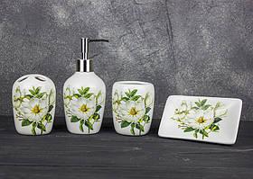 Набор аксессуаров 4 предмета для ванной Stenson R22341 Чайная роза
