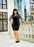 "Элегантно платье с принтом ""леопард"" Батал"
