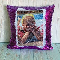 Печать на подушке-хамелеон (фиолетовая)