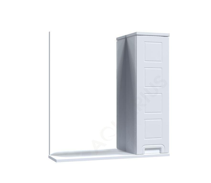 Зеркало Аквариус Cимфония со шкафчиком 65 см