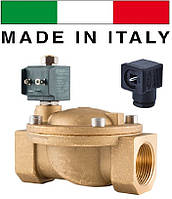 """Электромагнитный клапан CEME (Италия) 8718, НО, 1 1/2"""", 90 C, 220В нормально открытый"""