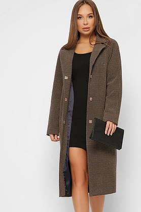 Женское шерстяное пальто весеннее коричневое, фото 3
