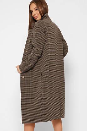 Женское шерстяное пальто весеннее коричневое, фото 2