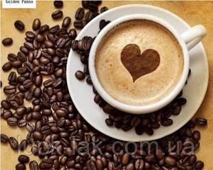 Алмазная вышивка, чашка кофе 30х40 см, квадратные стразы, полная выкладка НА ПОДРАМНИКЕ 29х39 см