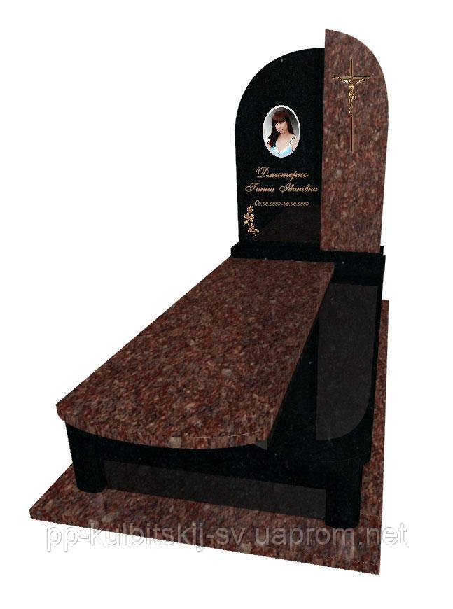 Пам'ятник з граніту одинарний Р 5030