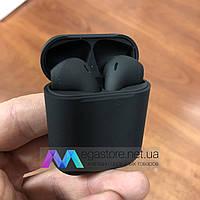 Беспроводные Bluetooth наушники i12 tws сенсорные гарнитура с кейсом подзарядкой черные
