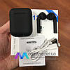 Беспроводные Bluetooth наушники i12 tws сенсорные гарнитура с кейсом подзарядкой черные - Фото