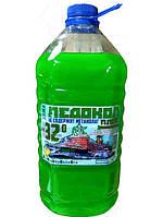Жидкость в бачок стеклоомывателя  Зимняя Ледокол -32 об% Яблоко 5л ПЭТ(зеленый)