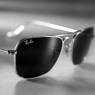 Окуляри Ray Ban RB 3136 Caravan Срібляста оправа скло комплект, копія сонцезахисні окуляри Рей Бен