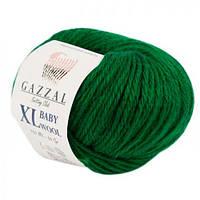 Пряжа Gazzal Baby Wool XL 814 (Газзал Беби Вул) Шерсть Акрил Зеленый