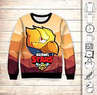 Світшот дитячий 3D Brawl Stars  Gold Crow