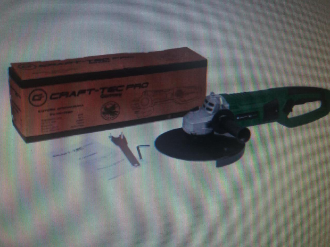 Болгарка Craft-tec PXAG-228A (230/2600 Вт, плавный пуск)