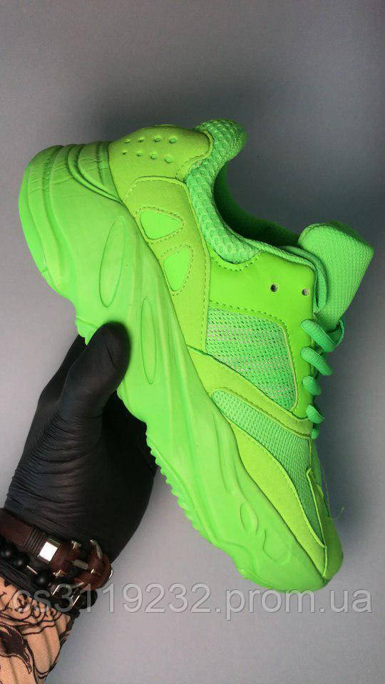 Мужские кроссовки Adidas Yeezy Boost 700 Green Neon (салатовые)