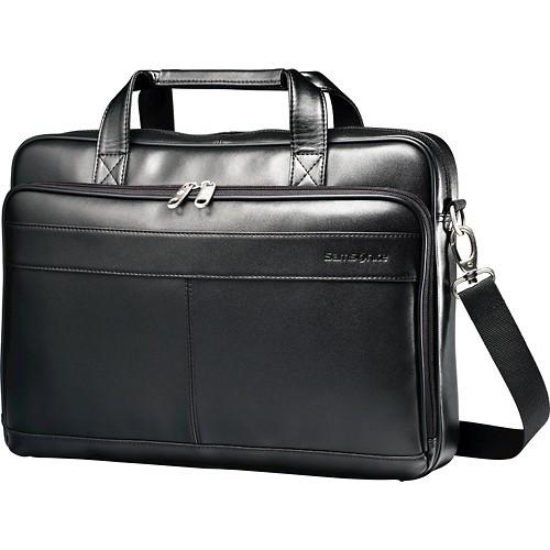 "Кожаная мужская сумка Samsonite для ноутбука до 15.6"""