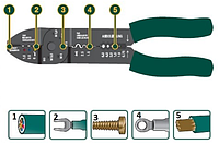 "Электропассатижи, съемник изоляции, кусачки,  винторез, KRAFTOOL ""EXPERT"" 235 мм 22661"