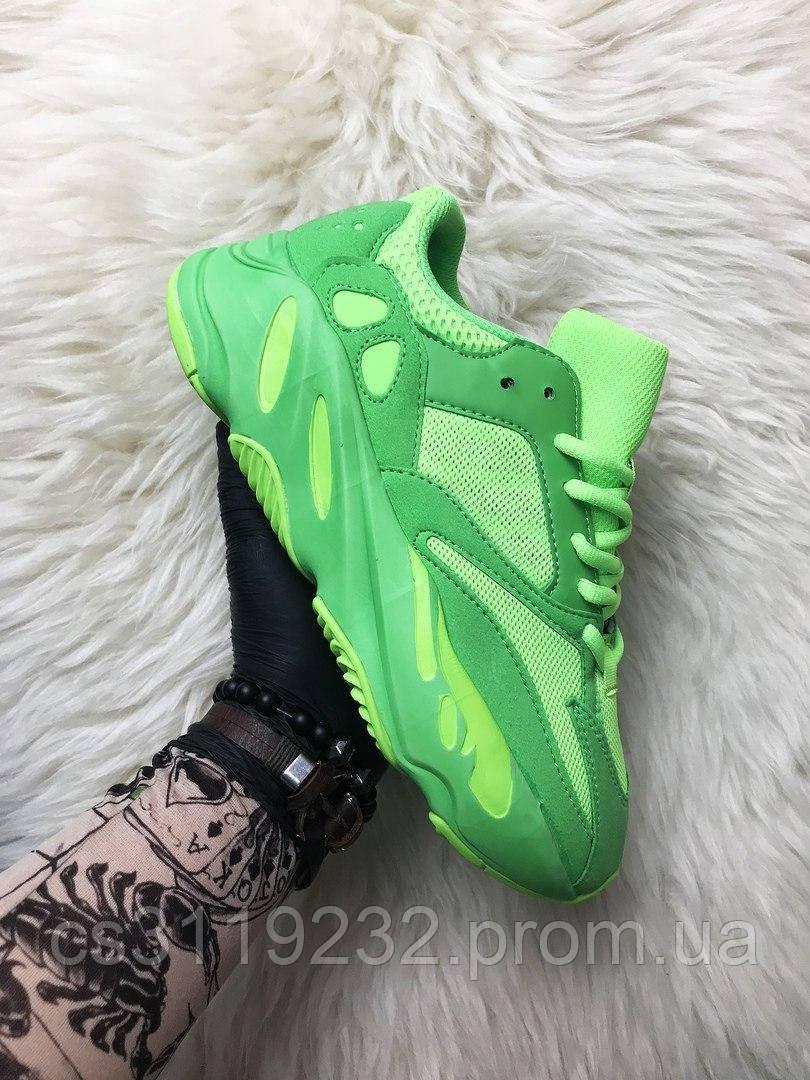 Чоловічі кросівки Adidas Yeezy Boost 700 Neon Green (зелені)