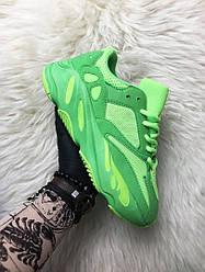 Мужские кроссовки Adidas Yeezy Boost 700 Green Neon (зелёные)