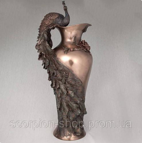 """Ваза """"Павлин"""" (50 см) Veronese Италия 10505 V4"""